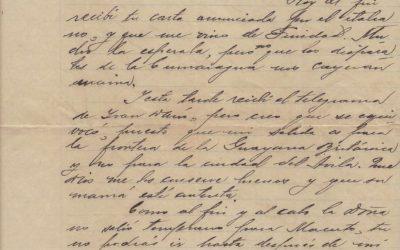Carta de Samuel Darío Maldonado a su esposa Lola Bello Torres