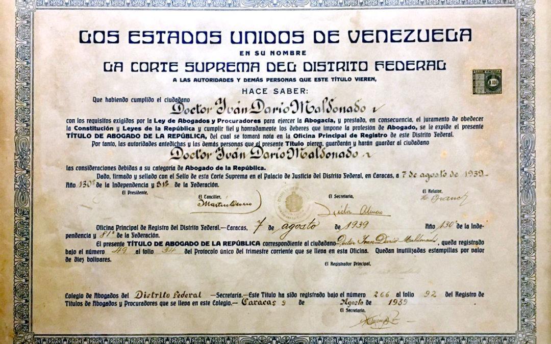 Efeméride 8: Graduación de Iván Darío Maldonado Bello